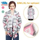 Lady Cardigan Loose Sweater Long Sleeve Knitted Cardigan Outwear Cotton Wrap