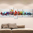 hand-painted city scenery modern abstract home wall art dec canvas oil painting