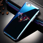 New Modern Blue Ray Light Funny Pattern Transparent Cover For iPhone 6 6s 7 Plus