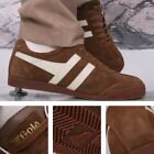 Gola Harrier Classic Leather Lace Up Trainer Tobacco / Ecru