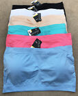 Pack LOT Strapless Tube Padded Seamless Bandeau Sports Top PLUS SIZE L/XL/2XL