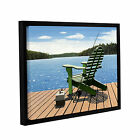 Fishing Chair' Gallery Wrapped Floater-framed Canvas Art Print