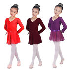 Girl Kid Ballet Leotard Wrap Scarf Tutu Skirt Dance Skate Costume Dress Chiffon