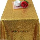 Factory Prices Many Size Sequin Rectangular Tablecloth Cover For Wedding