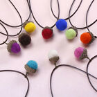 Pine Cones Nut Cashmere Fur Ball Pendant Necklace Stylish Acorn Lovely Necklace