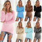 Fashion Women Long Sleeve Sweater Hot Ladies Round Neck Tops Solid Slim Sweaters