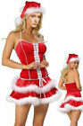 Sexy Christmas Outfit - Lycra Lace-Up Babydoll Marabou Fur Sit on Santa's Knee!