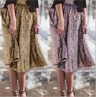 Sequins Trendy Wiggle Ladies Shinny Womens Skirts Party Gold Stamping Dress