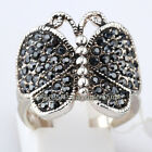 A1-R3031 Fashion Rhinestone Ring Butterfly 18KGP Crystal Size 6,6.5,8