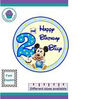 Mickey Mouse 2nd Birthday Icing or Wafer paper Large Cake Topper VARIOUS SIZES