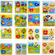 Wooden Puzzle Jigsaw Cartoon Kids Baby Educational Learning Puzzle Toys hcuk