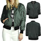 Stylish Women new MA1Classic Padded Bomber Jacket Vintage Zip Up Biker Coat