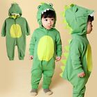 "Vaenait Baby Boys Infant Hooded Jumpsuit Rompers Outfit ""Green dino"" 10-24M"
