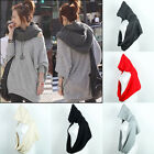 Fashion Winter Soft Pullover Hood Knit Infinity Scarf Beanie Hoodie Scarf Wrap
