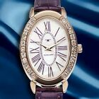 NEW Tavan Jeanne 62623659 Womens Purple Watch Mother Of Pearl Dial W/ Crystals