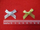 7mm Lurex Gold Or Silver coloured Bows Christmas Pack of 25 bows