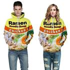 Ramen Noodle Soup Chicken Foods 3D Graphic Print Funny Men