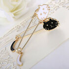 1PC Little Cat With Tail Big Plated Pin Shirt Collar Pin Enamel Brooch Gift JYL