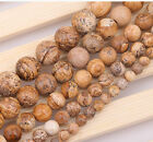 "50Pcs Natural Gemstone Smooth Round Loose Beads 15"" 6mm 8mm 10mm 12mm"