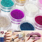 15Colors Caviar mini Balls Micro Beads Nail Art Acrylic UV 3D Decor  20G