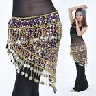 Belly Dance Hip Scarf Dancing Coins Sequined Womens Waist Chain Skirt Belt Wrap