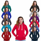 Ladies Plain Hoodies Women Pullover Hoodie Fleece Top Casual Hooded Sweatshirt