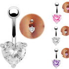 Heart Star Crystal Navel Ring Belly Button Bar Waist Chain Body Piercing Jewelry