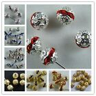 50pcs Silver/Gold Plated Crystal Ball Beads 8mm K46-K55