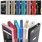 Luxury Thin Metal Slim Bumper Frame Case PC Back Cover Skin For Sony Z5 Compact