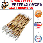 "Type-III 100pc 6"" Wood Handle Cotton Tipped Weapon Cleaning Swabs Non-Sterile"