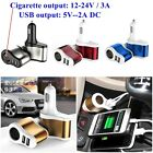 Cigarette Lighter Triple USB 2-Port Car Socket Charger Adapter For iPhone Samsug
