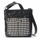 Rosetti Womens Crossbody Bag Fortress Herringbone black white polyester NEW
