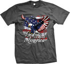 God Bless America American Eagle Flag USA United States Mens T-shirt