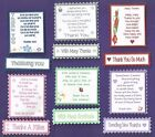 6 Thank You Verse Toppers With/Without Matching Sentiment Message Banners
