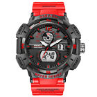 OHSEN Mens 7 LED Backlight Stainless Steel Sport Quartz Wrist Watch Waterproof