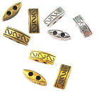 20pcs Retro Antique Metal Alloy Two Hole Spacer Beads 10mm for Jewelry Making