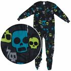 NEW Komar Kids Boys Black Colorful Skulls Footed Pajamas Size XS/4-5