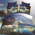 3D Bedding Sets Duvet Cover Bed Sheet Set in a Bag with HD Horse Pattern Hot c69