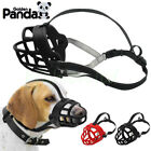 Anti Biting Barking Reflective Rubber / Nylon Dog Muzzles Soft Padded Cage Muzzle