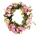 32cm Door hanging wall Window decoration Wreath Rose Peony Flower Gift For Party
