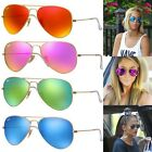 Ray-Ban Aviator RB3025 Flash Green Blue Orange Cyclamen Mirror Lenses  RRP $230