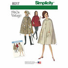 Simplicity 8017 aka 0985 Paper Sewing Pattern Cape Vintage 1960s Retro 6-22