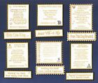 6 On Your Wedding Verse Toppers W/WO Matching Sentiment Banners**Gold & Cream