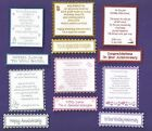 6 On Your Wedding Anniversary Verse Toppers W/WO Matching Sentiment Banners