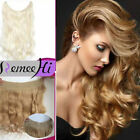 THICK LONG HUMAN REMY HALO SECRET INVISIBLE WIRE HAIR EXTENSIONS ANY COLOUR 80g