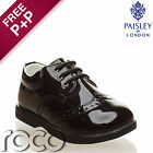 Baby Boys Black Brogue Patent Lace Up Formal Shoes Flexible Sole for Comfort 1-8
