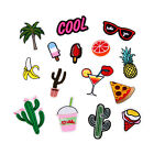 Embroidred Sew Iron on Patch Badge Fruit Dessert Shape Applique Fabric