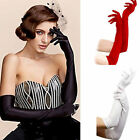 Fashion Long Gloves Satin Opera Wedding Bridal Evening Party Prom Costume Gloves