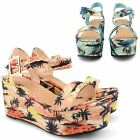 WOMENS LADIES DOLCIS WEDGE HIGH HEEL SANDALS SUMMER PLATFORM OPEN TOE SHOES SIZE