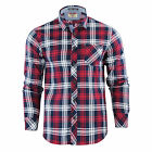 Tokyo Laundry Carlsson Collared Flannel Check Shirt - Deep Red